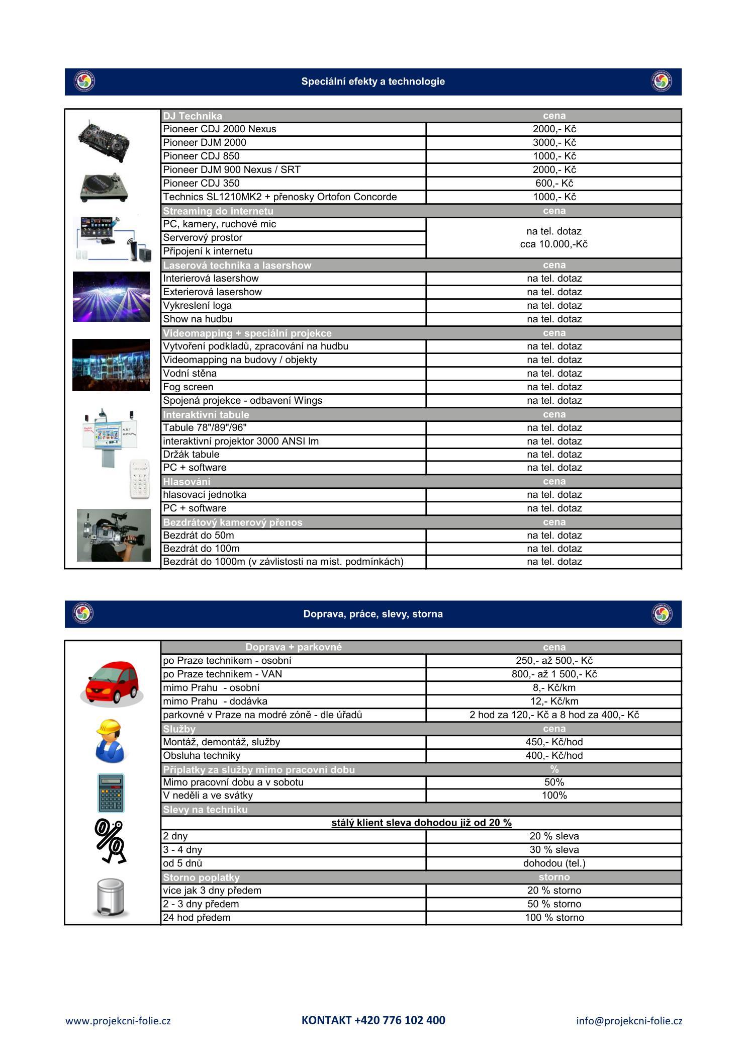 Ceník pronájem AV techniky - str.4