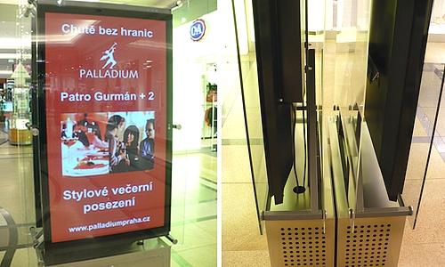 Informační panely OC Liberec